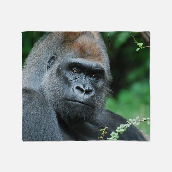 Gorilla Gaze Throw Blanket