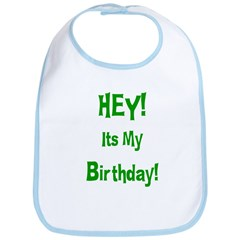 Hey! Birthday! (Green) Bib