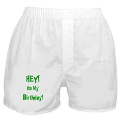 Hey! Birthday! (Green) Boxer Shorts