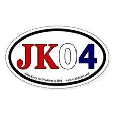 John Kerry for President Oval Bumper Decal