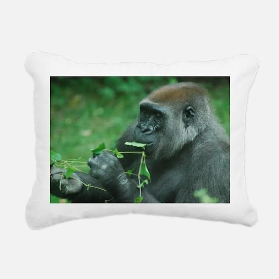 Silverback Gorilla Snack Rectangular Canvas Pillow