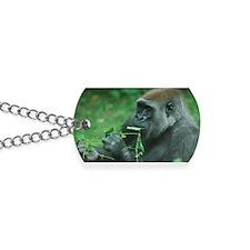 Silverback Gorilla Snacking Dog Tags