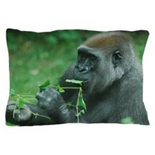 Silverback Gorilla Snacking Pillow Case