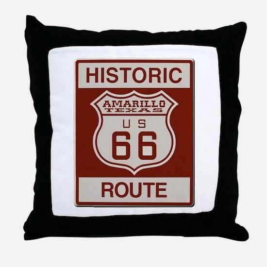Amarillo Route 66 Throw Pillow