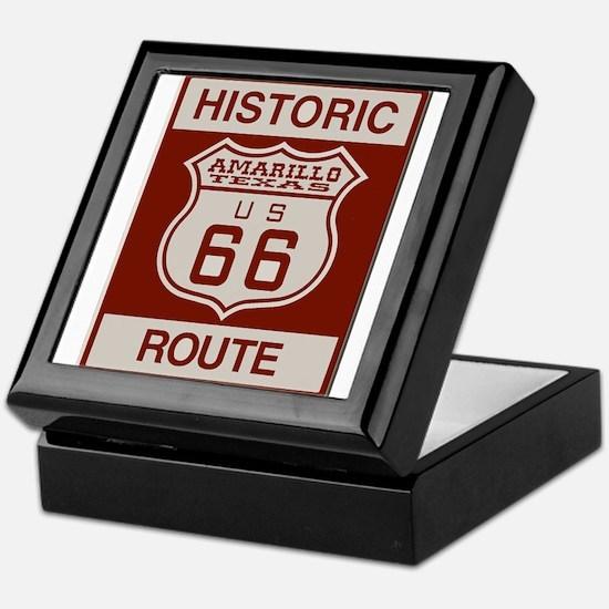 Amarillo Route 66 Keepsake Box