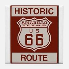 Amarillo Route 66 Tile Coaster