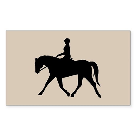 Horse Rider Rectangle Sticker