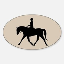 Horse Rider Oval Decal