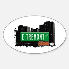E Tremont Av, Bronx, NYC Oval Decal