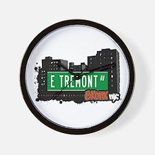 E Tremont Av, Bronx, NYC Wall Clock