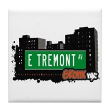 E Tremont Av, Bronx, NYC Tile Coaster