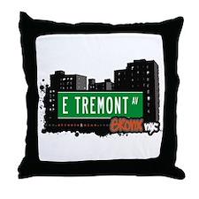 E Tremont Av, Bronx, NYC Throw Pillow
