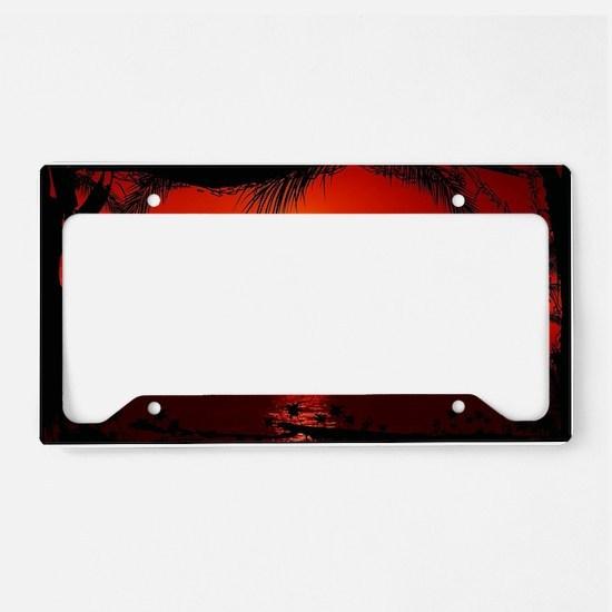 Wonderful Sunset License Plate Holder