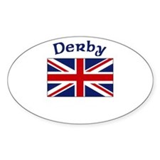 Derby, England Oval Decal