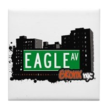 Eagle Av, Bronx, NYC Tile Coaster