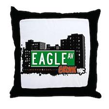 Eagle Av, Bronx, NYC Throw Pillow