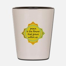 Peace is the Flower Shot Glass