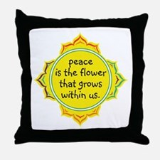 Peace is the Flower Throw Pillow