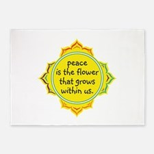 Peace is the Flower 5'x7'Area Rug