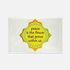 Peace is the Flower Rectangle Magnet