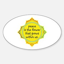 Peace is the Flower Sticker (Oval)