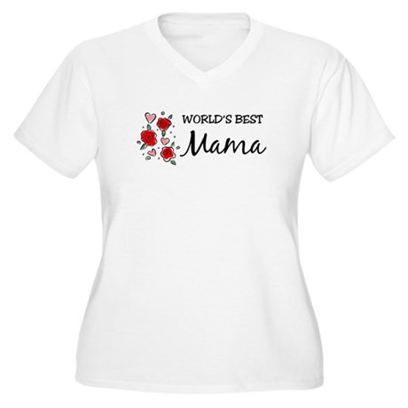 WB Mom [Mandarin] Women's Plus Size V-Neck T-Shirt