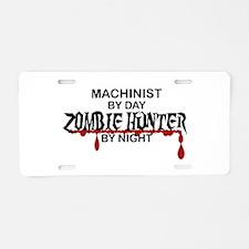 Zombie Hunter - Machinist Aluminum License Plate