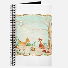 Woodland Creatures Animals Deer Fox Rabbit Owl Art
