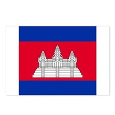 Flag of Cambodia Postcards (Package of 8)
