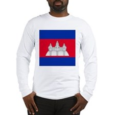 Flag of Cambodia Long Sleeve T-Shirt
