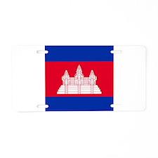 Flag of Cambodia Aluminum License Plate