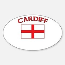 Cardiff, England Oval Decal