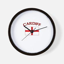 Cardiff, England Wall Clock