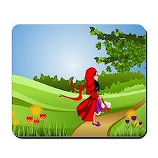 Little Red Riding Hood Taking a Walk Mousepad
