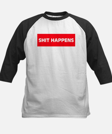 Shit Happens Kids Baseball Jersey