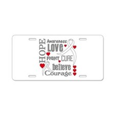 Lung Cancer Hope Aluminum License Plate