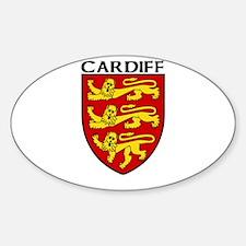 Cardiff, England Oval Decal