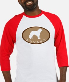 Kuvasz (brown oval) Baseball Jersey