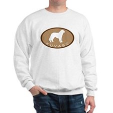Kuvasz (brown oval) Sweatshirt