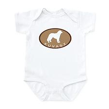 Kuvasz (brown oval) Infant Bodysuit