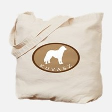 Kuvasz (brown oval) Tote Bag