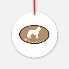 Kuvasz (brown oval) Ornament (Round)