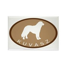 Kuvasz (brown oval) Rectangle Magnet (10 pack)