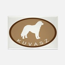 Kuvasz (brown oval) Rectangle Magnet