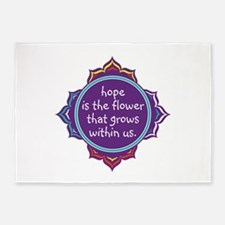 Hope is the Flower 5'x7'Area Rug