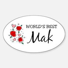 WB Mom [Malay] Oval Decal