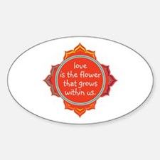 Love is the Flower Decal