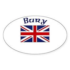 Bury, England Oval Decal