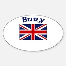 Bury, England Oval Decal