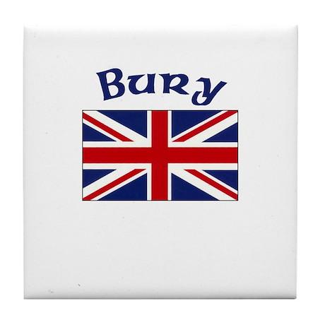 Bury, England Tile Coaster